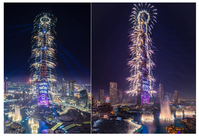 Chương trình đón năm mới Emaar NYE 2019 tại Burj Khalifa tiếp tục lập 2 kỷ lục Guiness