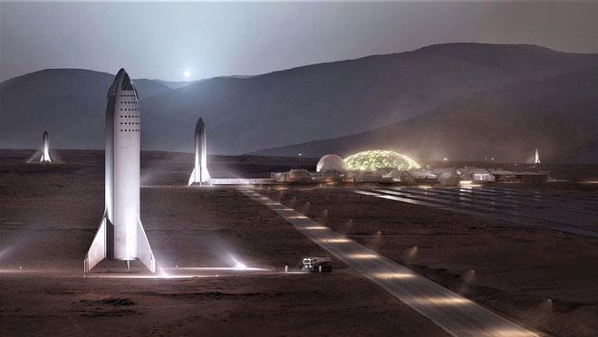 Mô hình căn cứ sao Hỏa trên tương lai.