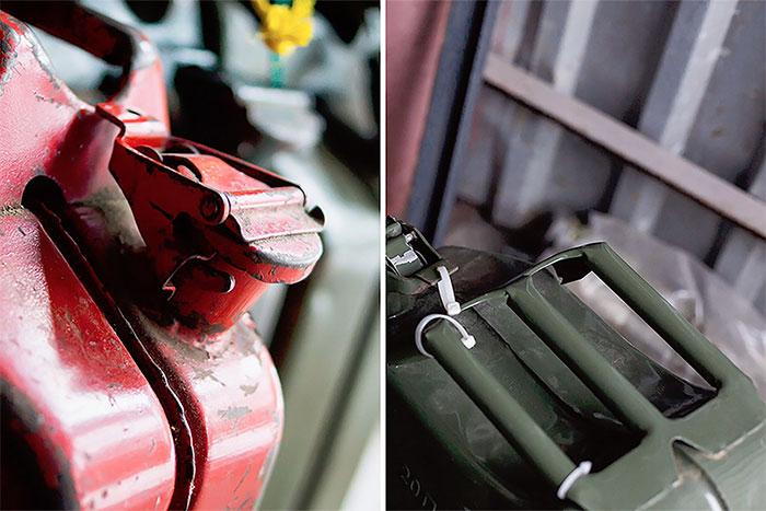 Thiết kế nắp của can đựng nhiên liệu