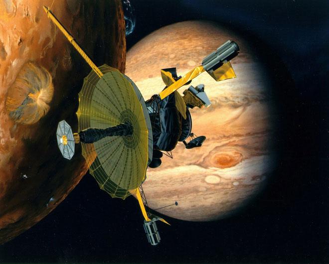 Hình minh họa tàu Galileo.