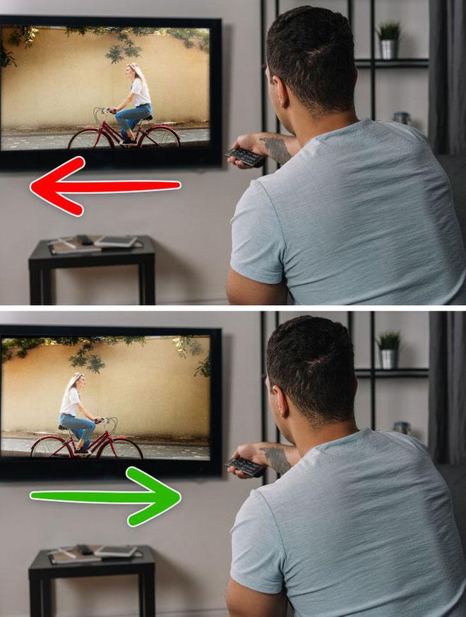 Chúng ta có thể cảm thấy hiệu ứng tương tự khi xem video.