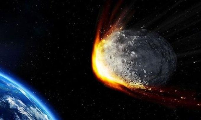 Mô phỏng thiên thạch bay gần Trái đất.