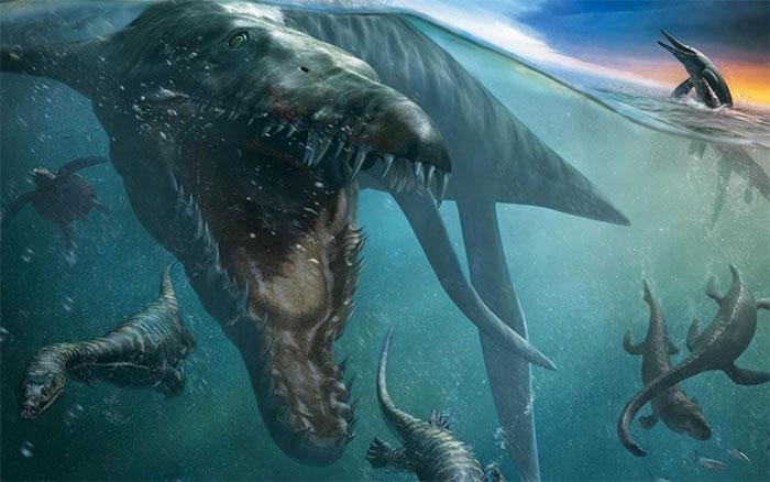 Bộ hàm đáng sợ của Liopleurodon.