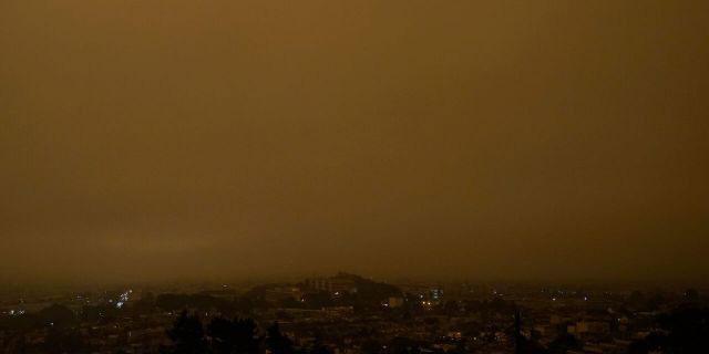 Khói dày dặc bao phủ TP San Francisco sáng 9/9.