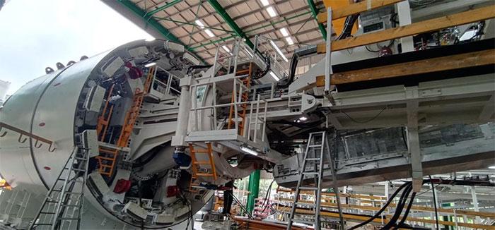 Robot đào hầm tuyến đường sắt Nhổn-ga Hà Nội được chế tạo theo công nghệ TBM của Đức