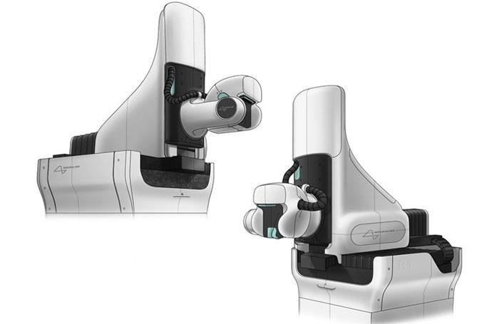 Woke Studios lấy ý tưởng thiết kế từ các loại thiết bị y tế khác ít xâm lấn hơn nhằm làm robot ít đáng sợ hơn
