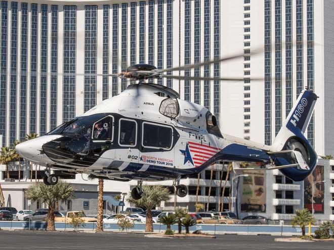 """Theo miêu tả của Airbus về H160, chiếc trực thăng này có """"động cơ tuốc-bin trục thế hệ mới"""""""