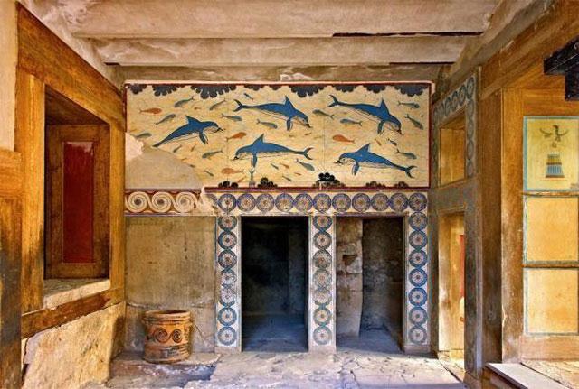 Cung điện Knossos, Hy Lạp, nơi Linear A từng được sử dụng.