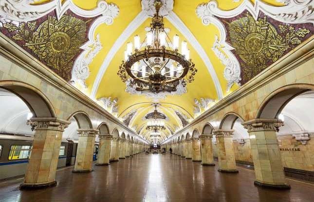 Nhà ga Komsomolskaya, Moscow, Nga