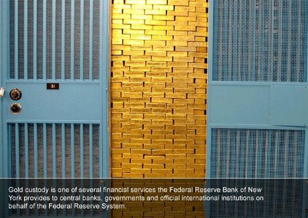 Kho vàng của New York Fed chứa hơn 6.000 tấn vàng