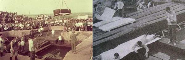 Lăng mộ ngập nước khiến việc khai quật gặp nhiều khó khăn