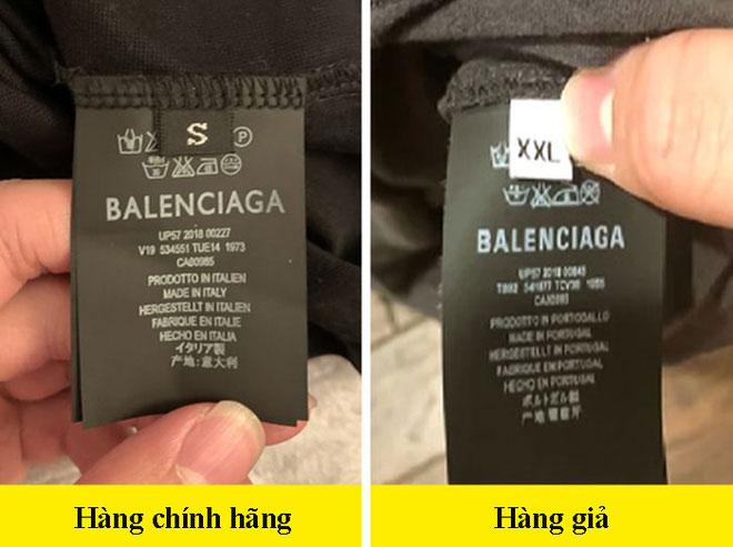 Kiểm tra nhãn mác trên quần áo