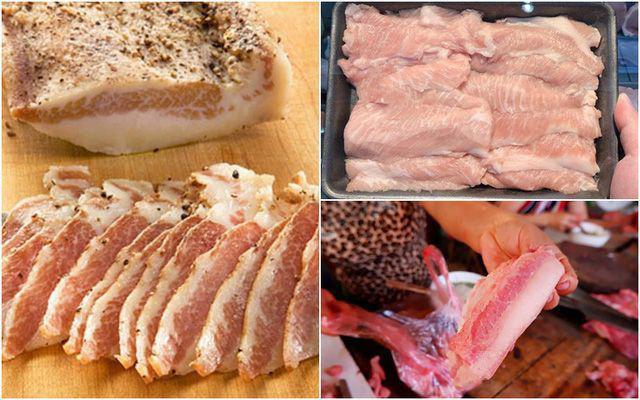 Thịt cổ heo với những miếng thịt đỏ sẫm