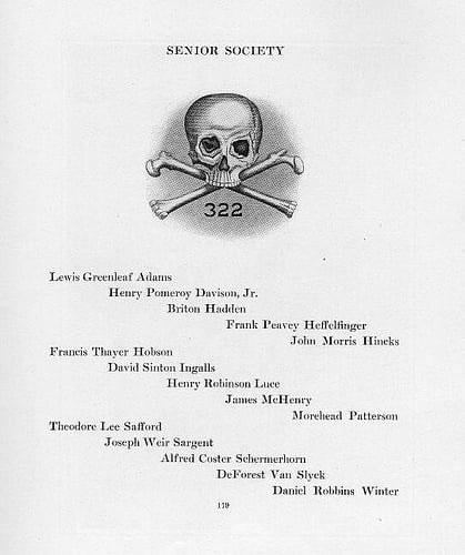 Danh sách các thành viên kì cựu của hội năm 1920