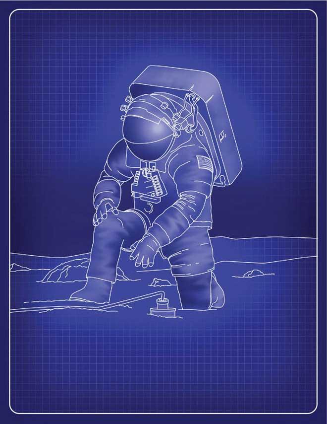 Bộ đồ phi hành gia cải cách của NASA dành cho các phi hành gia đổ bộ Mặt trăng năm 2024.