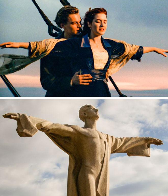 Khung cảnh mang tính biểu tượng ở phần đầu của phim Titanic