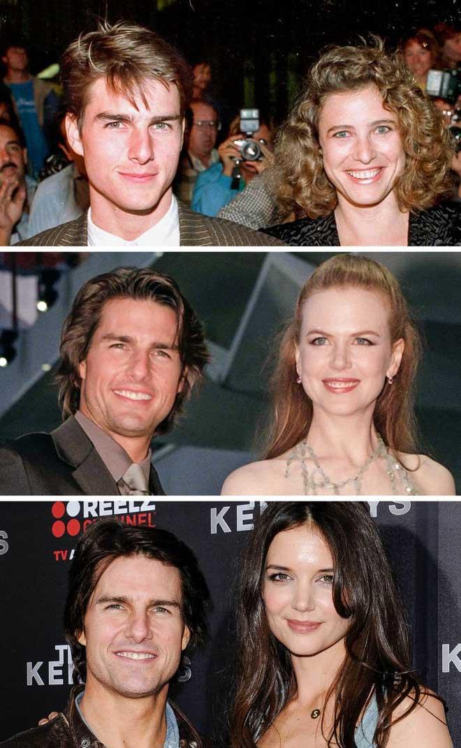 Tom Cruise đã ly hôn với cả 3 người vợ cũ của anh ấy khi họ bước sang tuổi 33