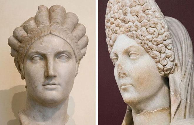 """Những bức tượng bán thân của người La Mã đôi khi có """"tóc"""" có thể tháo rời"""