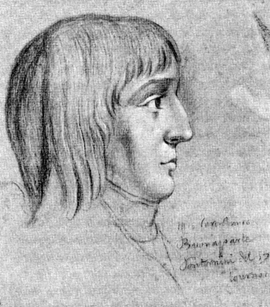 Tranh vẽ Napoléon Bonaparte (1769-1821) lúc 16 tuổi.