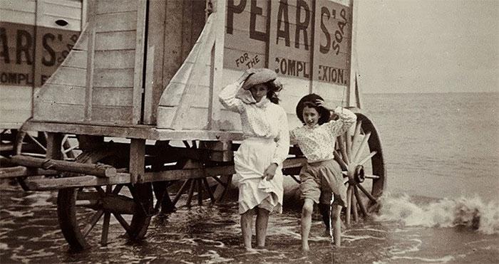 Phòng thay đồ trên xe kéo thời Victoria