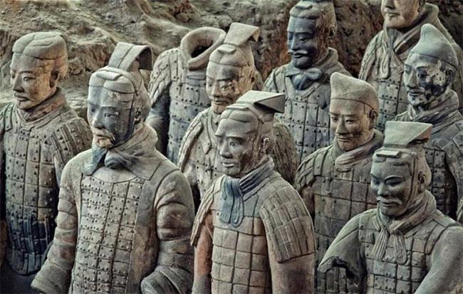 Đội quân đất nung của Tần Thủy Hoàng.
