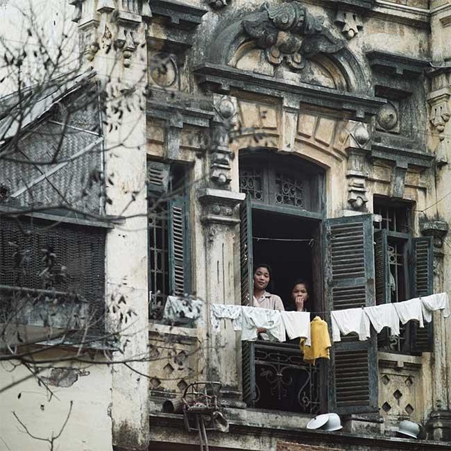 Ngôi nhà khu phố cổ ở Hà Nội trong ảnh chụp năm 1975