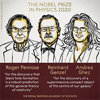 Giải Nobel Vật lý 2020 được trao cho nghiên cứu về hố đen vũ trụ