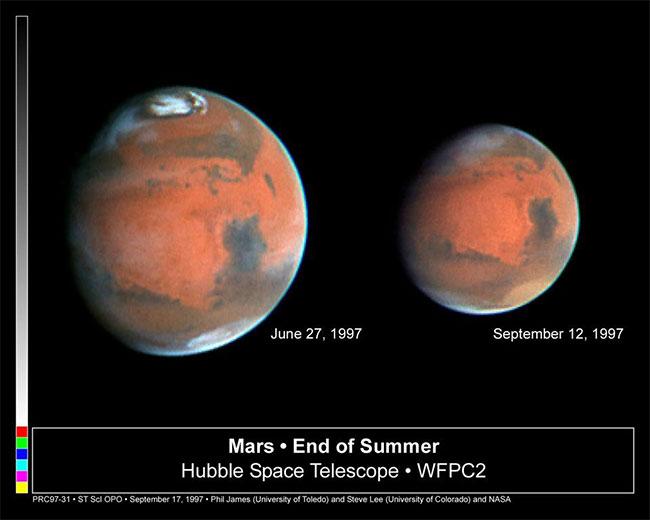 Các mùa của Hỏa tinh bị ảnh hưởng bởi quỹ đạo gần giống hình elip chứ không phải do độ nghiêng trục.