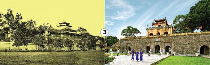 Hoàng Thành Thăng Long xưa và nay.