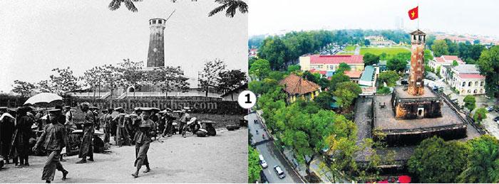 Cột cờ Hà Nội xưa và nay.