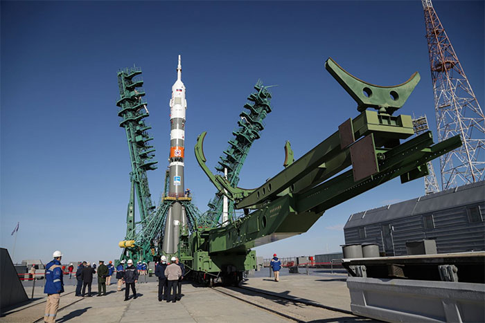 Tàu Soyuz MS-17 được đặt vào bệ phóng ngày 11/10.
