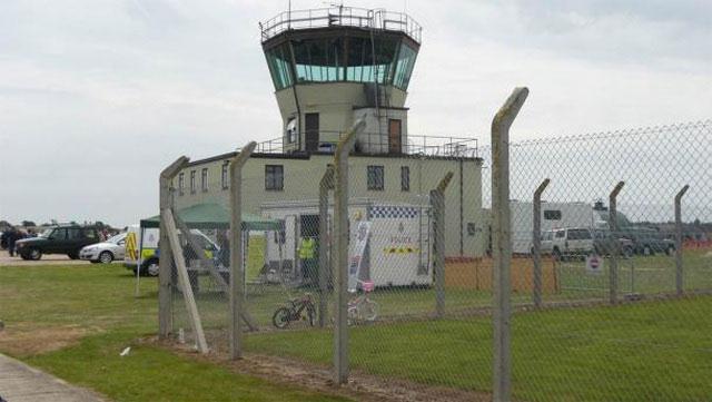 Tháp điều khiển ATC cũ tại sân bay RAF Bentwaters trước đây