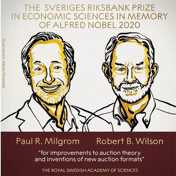 Paul R.Milgrom (trái) và Robert B.Wilson.