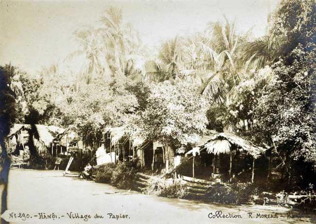 Khung cảnh ở làng Giấy, cách người Pháp gọi vùng Kẻ Bưởi