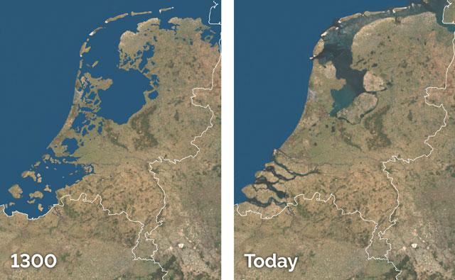 Không chỉ chống lũ, người Hà Lan còn mở rộng đất canh tác nhờ hệ thống đê điều hợp lý.