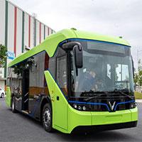 Xe buýt điện của VinFast lần đầu chạy thử