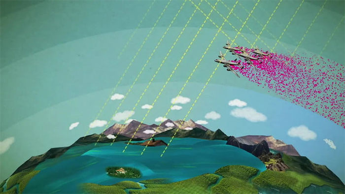 """Dự án """"che mờ Mặt trời"""" thì cần một số lượng rất lớn máy bay di chuyển vào tầng bình lưu."""