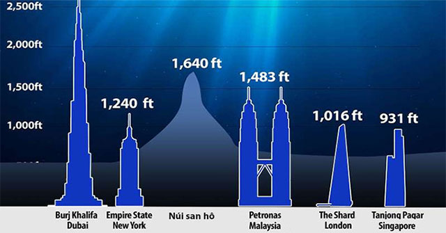 Phát hiện núi san hô cao gấp rưỡi tháp Eiffel