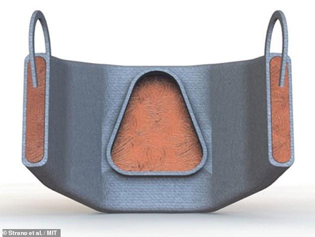 Bản thiết kế cho thấy lớp đồng màu nâu được bao bọc với vỏ cao su tổng hợp màu xám bên ngoài