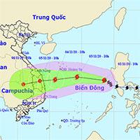 Dự kiến ngày 5/11, bão Goni đổ bộ vào Đà Nẵng - Phú Yên