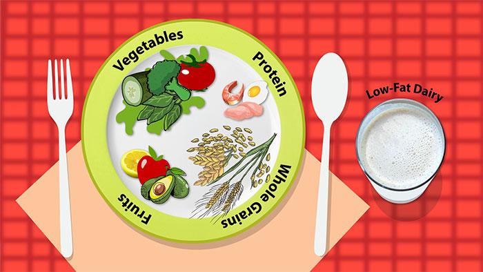 Chế độ ăn DASH khuyến khích giảm natri trong khẩu phần ăn hàng ngày.