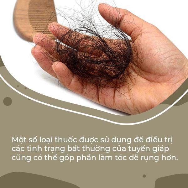 1 số thuốc điều trị tuyến giáp cũng có thể làm tóc dễ rụng hơn
