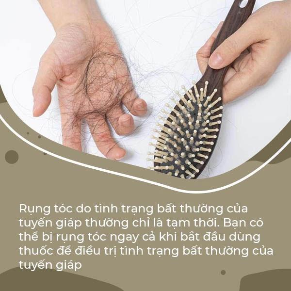 Rụng tóc do tình trạng bất thường của tuyến giáp thường chỉ là tạm thời