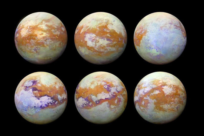 6 bức ảnh về Titan được tàu Cassini gửi về