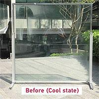 Cửa sổ trong suốt hấp thụ nhiệt ban ngày để dùng vào ban đêm
