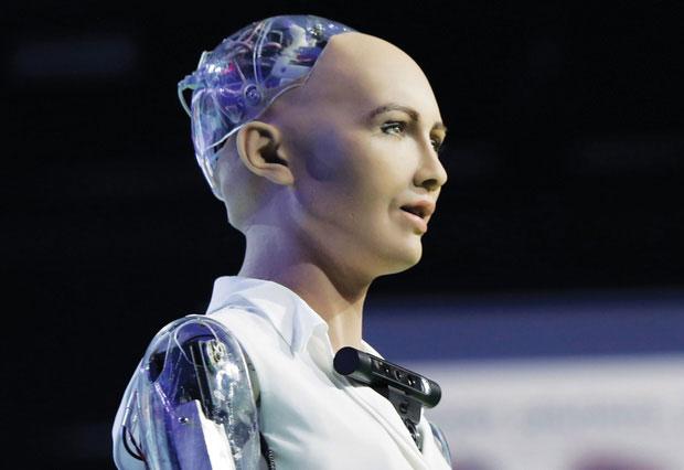 Sophia là một robot hình người được phát triển bởi Hansen Robotics