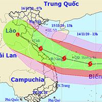 Cơn bão số 13 Vamco đã đi vào biển Đông, gió mạnh cấp 12, giật cấp 15