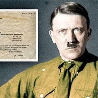 Bức thư đầy lỗi đánh máy của trùm phát xít Hitler