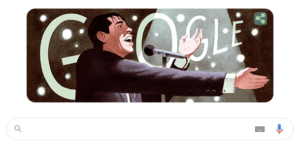 Doodle Google thay đổi để tôn vinh Jacques Brel.