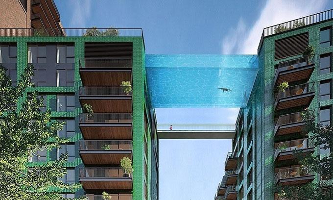 Thiết kế của bể bơi Sky Pool.